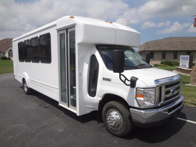 Goshen Coach Impulse bus with a Ford E450 chassis