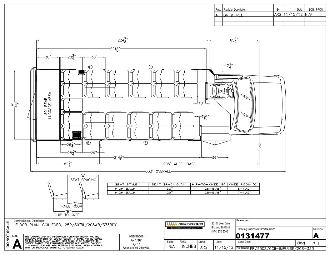 floorplan goshen coach impulse bus with a ford e450 chassis goshen coach wiring diagram at bayanpartner.co