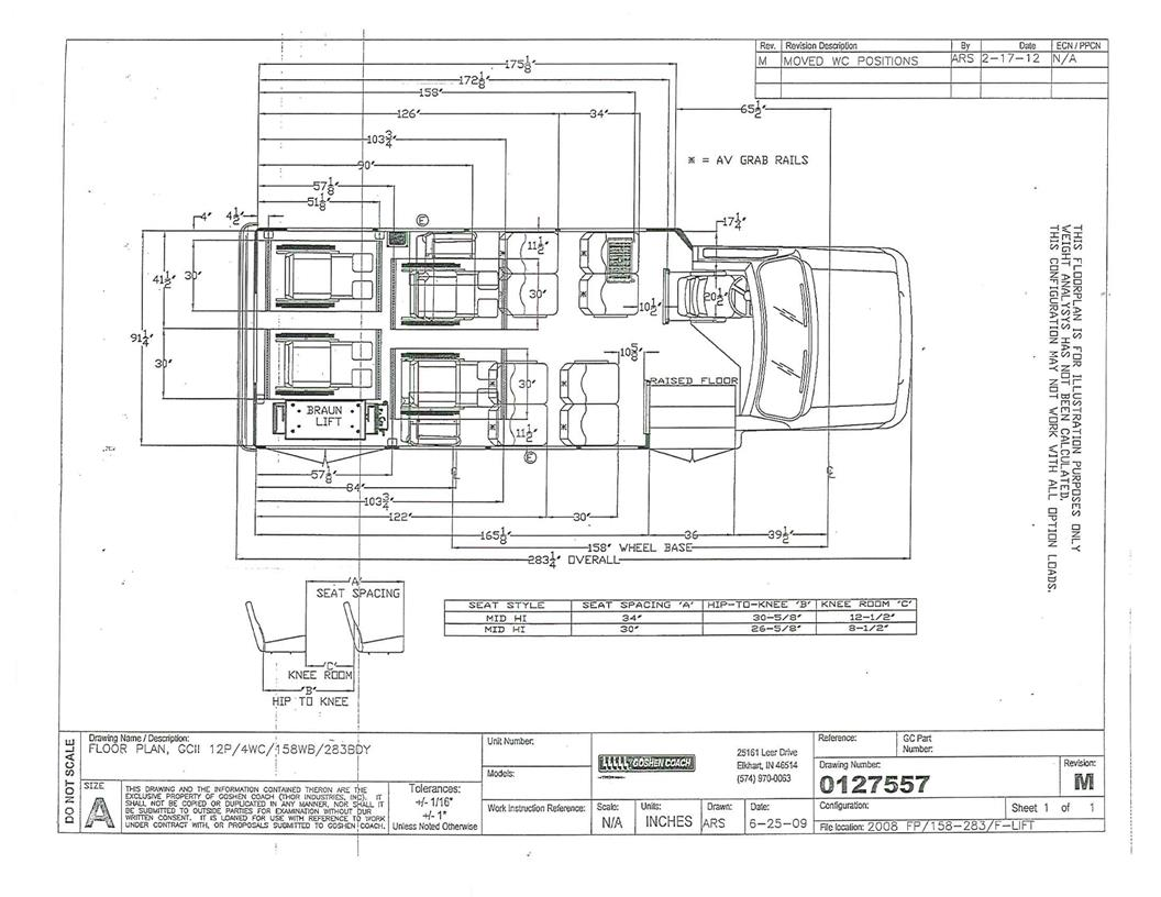 goshen coach gcii bus with a ford e350 drw chassis rh tescobus com 2010 Ford E350 Wiring-Diagram Goshen Buses