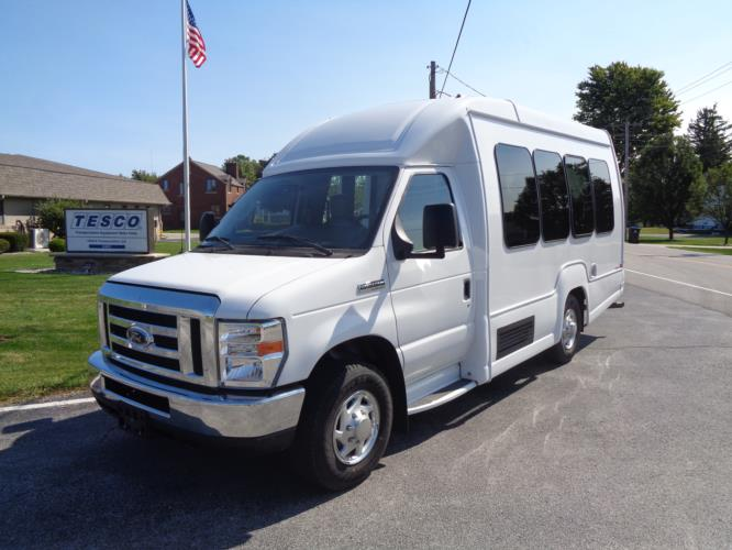 2018 Turtle Top VanTerra Ford 14 Passenger Shuttle Bus Driver side exterior front angle-397003-2