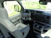 2021 Turtle Top VanTerra XL Ford 9 Passenger and 2 Wheelchair Shuttle Bus Interior-397257-18