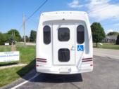 2021 Turtle Top VanTerra XL Ford 9 Passenger and 2 Wheelchair Shuttle Bus Rear exterior-397257-8