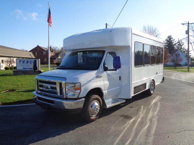 2020 Turtle Top Terra Transit Ford 0 Passenger and 7 Wheelchair Shuttle Bus Driver side exterior front angle-501539-2