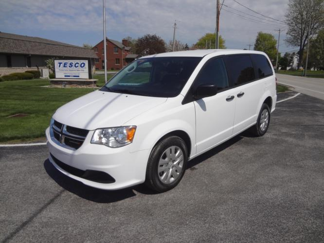 2020 Dodge Grand Caravan SE Dodge 3 Passenger and 2 Wheelchair Van Driver side exterior front angle-ATS4361-2