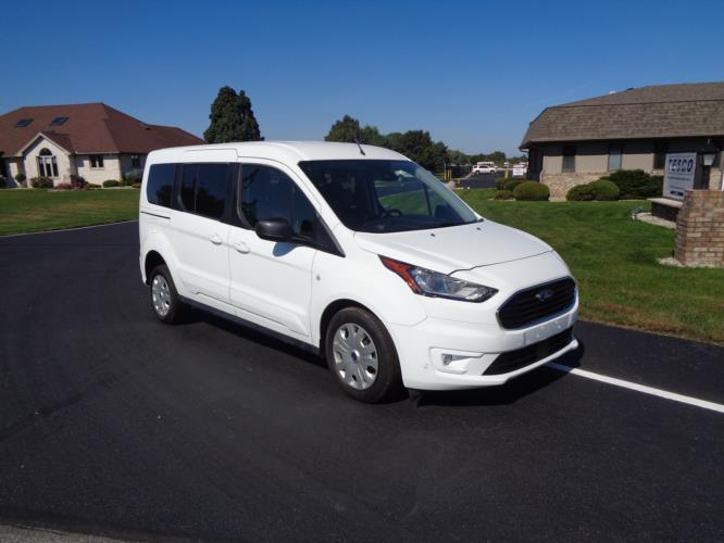 2021 Ford Transit Connect Ford 3 Passenger and 1 Wheelchair Van Passenger side exterior front angle-ATS5968-1