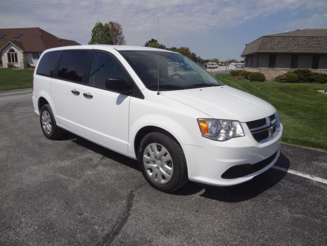 2020 Dodge Grand Caravan SE Dodge 3 Passenger and 2 Wheelchair Van Passenger side exterior front angle-ATS8104-1