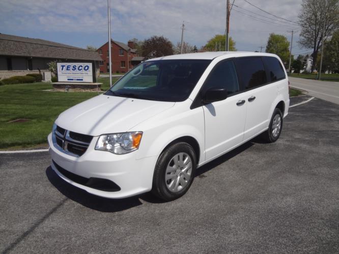 2020 Dodge Grand Caravan SE Dodge 3 Passenger and 2 Wheelchair Van Driver side exterior front angle-ATS8104-2