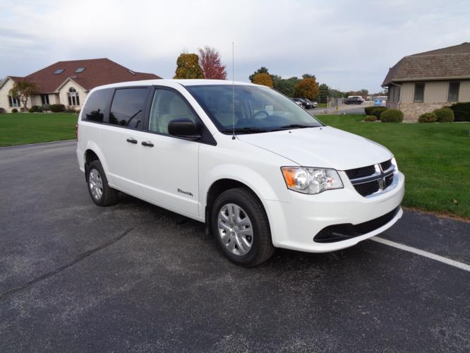 2019 Braun Entervan Dodge 4 Passenger and 1 Wheelchair Van Passenger side exterior front angle-B339624-1