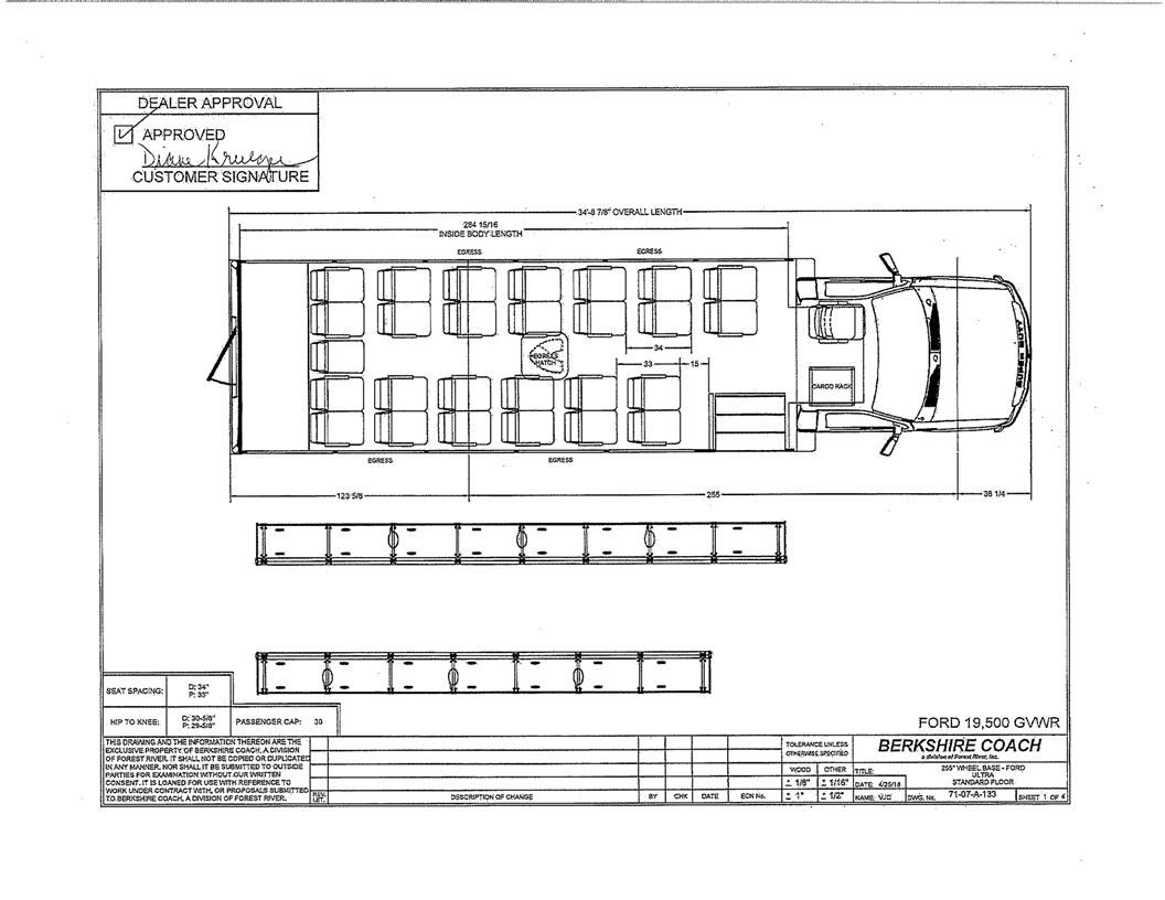Berkshire Coach Ultra Bus With A Ford F550 Chassis Transpec Wiring Diagram For Sign Summary