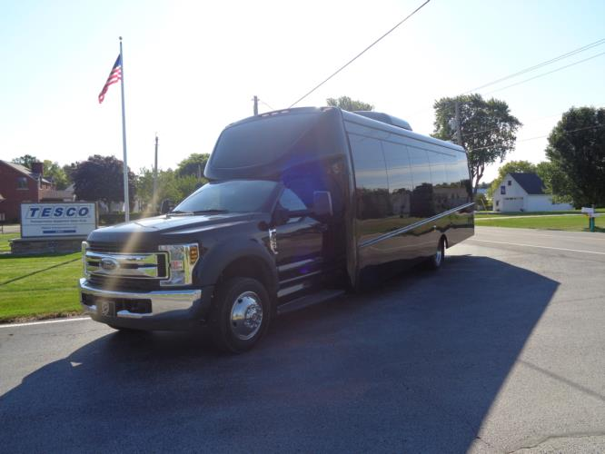 2020 Berkshire Coach Ultra 34 Ford 28 Passenger Luxury Bus Driver side exterior front angle-BERK2089-2