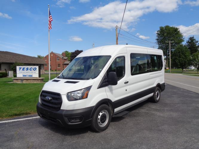2021 Ford Transit X2C-XL Ford 3 Passenger and 2 Wheelchair Van Driver side exterior front angle-FRV058-2