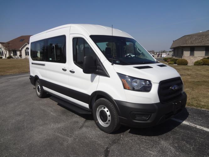 2021 Ford Transit X2C-XL Ford 3 Passenger and 2 Wheelchair Van Passenger side exterior front angle-FRV164-1