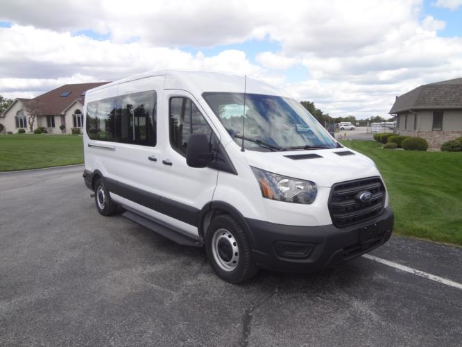 2022 Ford Transit X2C-XL Ford 3 Passenger and 2 Wheelchair Van Passenger side exterior front angle-FRV234-1