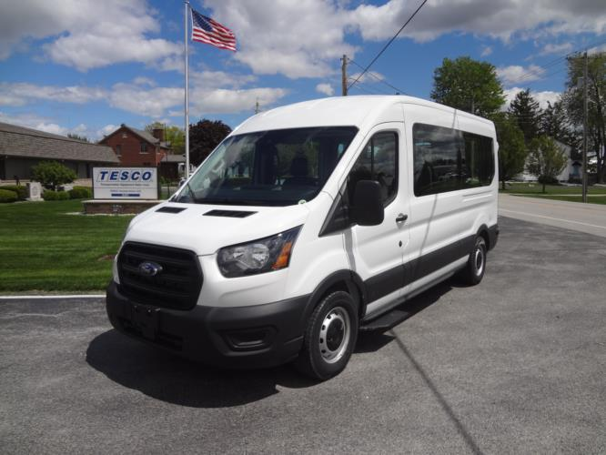 2022 Ford Transit X2C-XL Ford 3 Passenger and 2 Wheelchair Van Driver side exterior front angle-FRV234-2