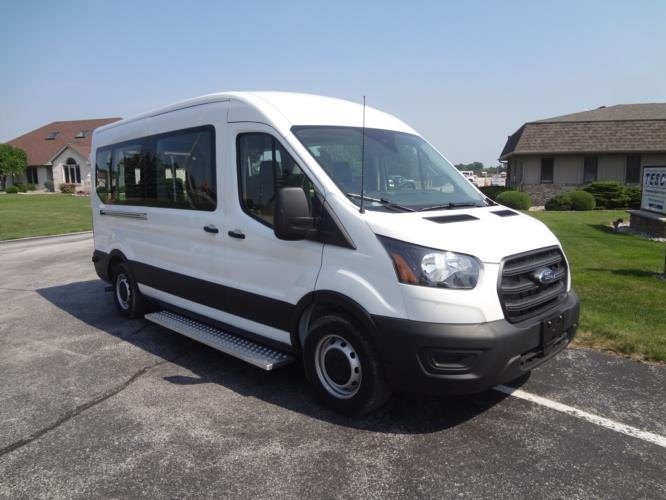 2021 Ford Transit X2C-XL Ford 1 Passenger and 3 Wheelchair Van Passenger side exterior front angle-FRV291-1