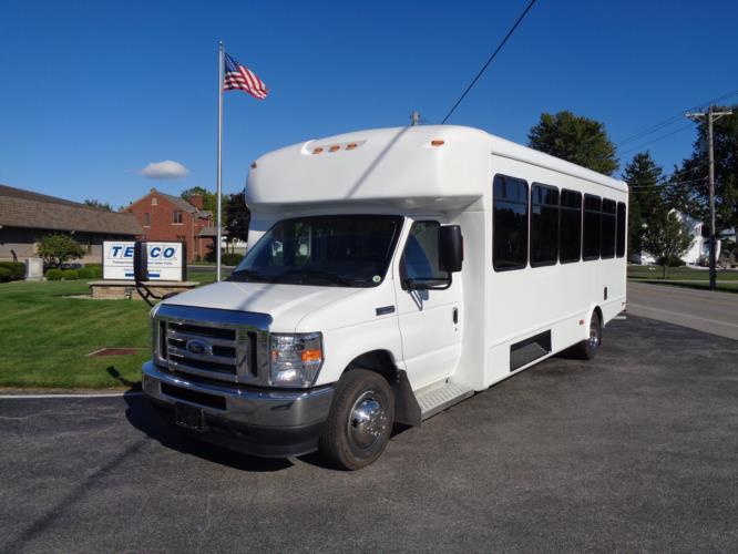 2022 StarTrans Senator II Ford 17 Passenger Shuttle Bus Driver side exterior front angle-ST100851-2
