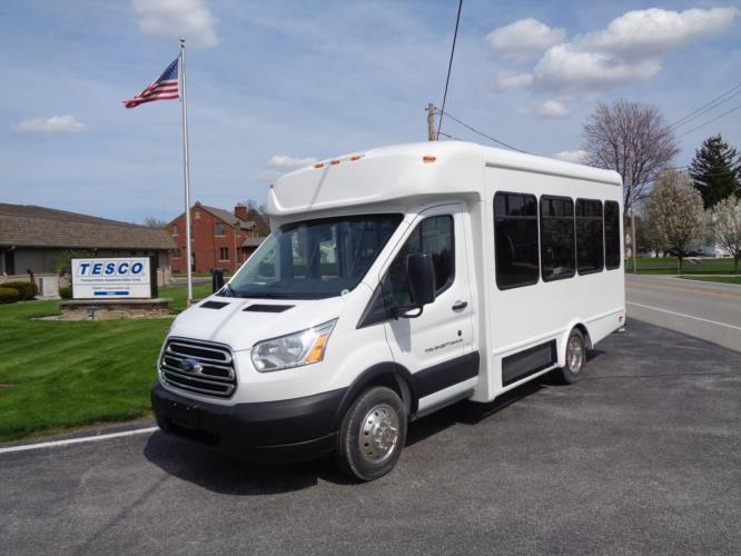 2021 StarTrans Candidate II Ford 13 Passenger Shuttle Bus Driver side exterior front angle-ST96811-2