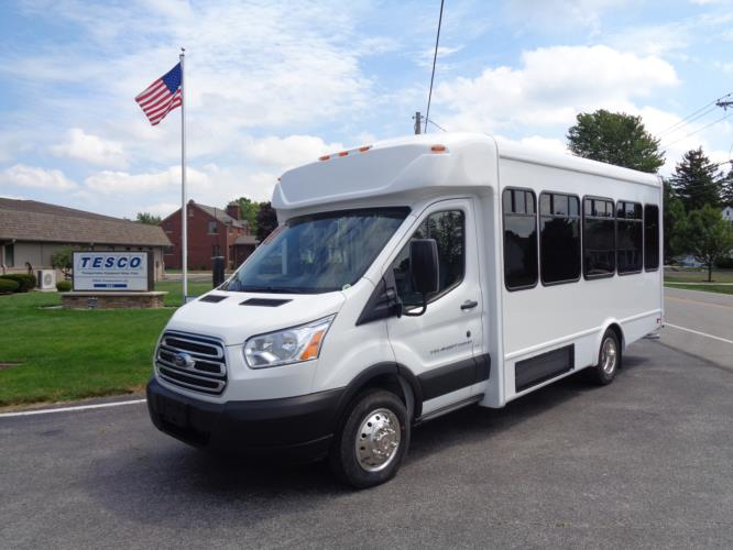 2020 StarTrans Candidate II Ford 11 Passenger and 2 Wheelchair Shuttle Bus Driver side exterior front angle-ST99343-2