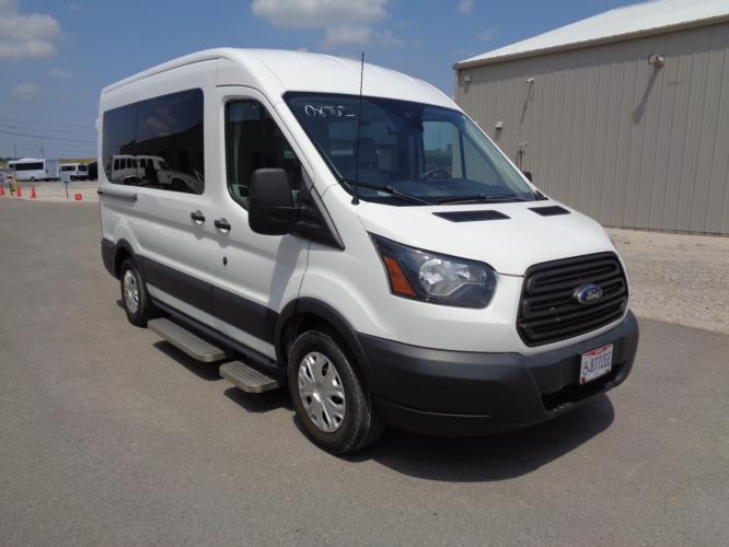 2016 Transit Ford 4 Passenger and 1 Wheelchair Van Passenger side exterior front angle-08762-1
