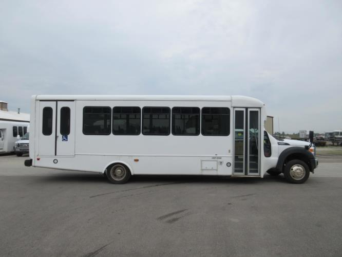 2016 Startrans Ford 24 Passenger and 2 Wheelchair Shuttle Bus Driver side exterior front angle-09183-2