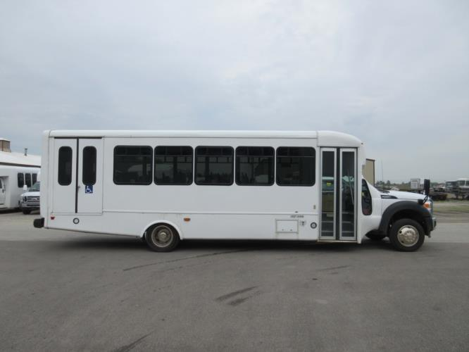 2016 Startrans Ford 24 Passenger and 2 Wheelchair Shuttle Bus Driver side exterior front angle-09184-2