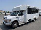 2016 Goshen Coach Ford E350 12 Passenger and 2 Wheelchair Shuttle Bus Rear exterior-09251-8