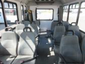 2017 Goshen Coach Ford E350 12 Passenger and 2 Wheelchair Shuttle Bus Rear exterior-09575-8