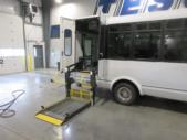 2016 ElDorado Ford E450 6 Passenger and 4 Wheelchair Shuttle Bus Driver side exterior rear angle-09674-4