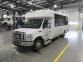 2016 ElDorado Ford E450 6 Passenger and 4 Wheelchair Shuttle Bus Side exterior-09674-6