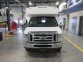2016 ElDorado Ford E450 6 Passenger and 4 Wheelchair Shuttle Bus Front exterior-09674-7