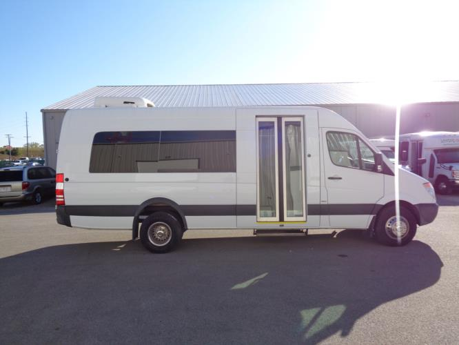 2014 Sprinter Mercedes-Benz 8 Passenger and 1 Wheelchair Van Driver side exterior front angle-09764-2