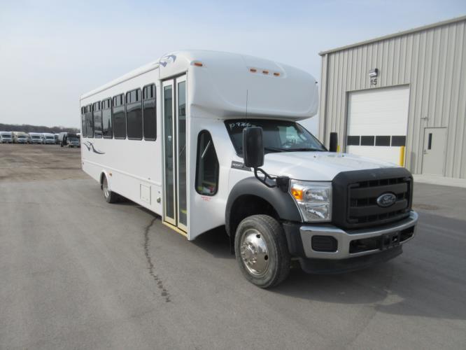 2016 Starcraft Ford F550 33 Passenger Shuttle Bus Passenger side exterior front angle-09766-1