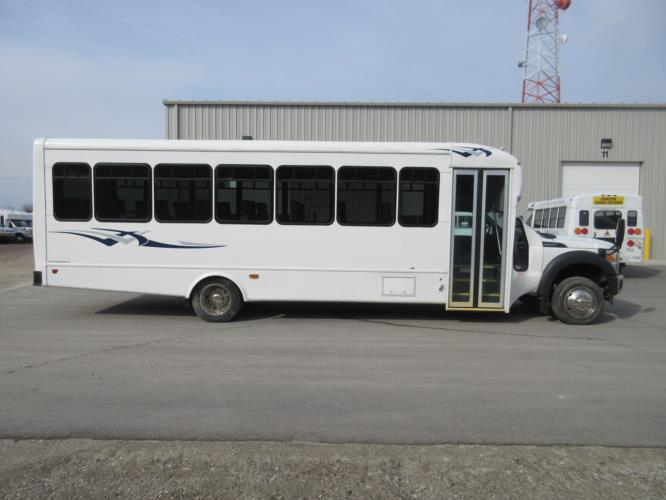 2016 Starcraft Ford F550 33 Passenger Shuttle Bus Driver side exterior front angle-09766-2