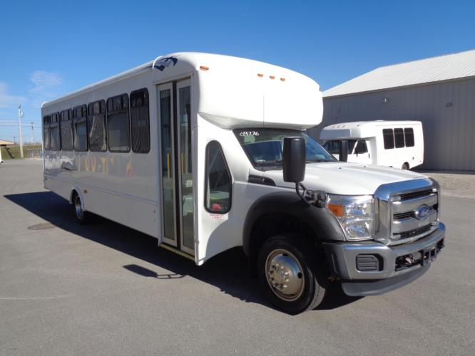 2016 Starcraft Ford F550 32 Passenger Shuttle Bus Passenger side exterior front angle-09776-1