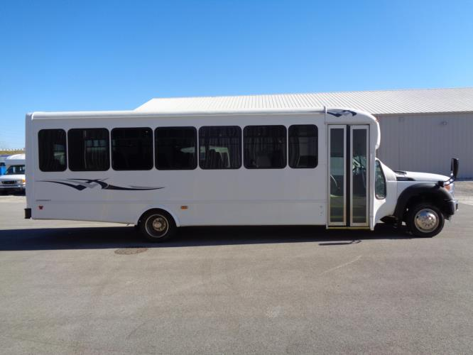 2016 Starcraft Ford F550 32 Passenger Shuttle Bus Driver side exterior front angle-09776-2