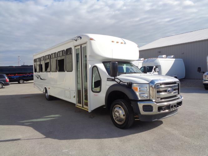 2016 Starcraft Ford F550 32 Passenger Shuttle Bus Passenger side exterior front angle-09778-1