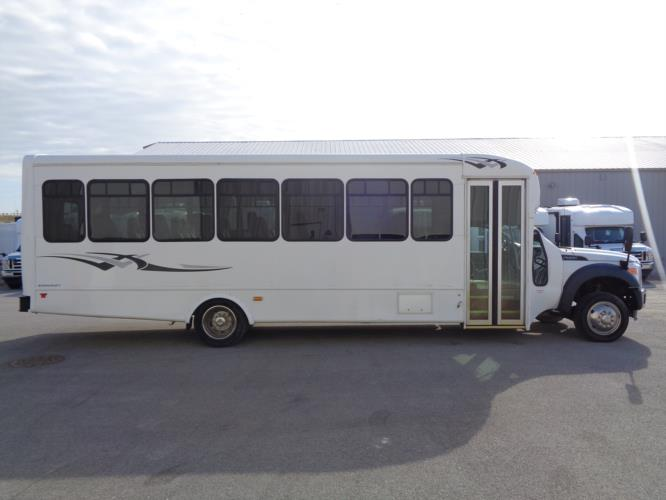 2016 Starcraft Ford F550 32 Passenger Shuttle Bus Driver side exterior front angle-09778-2