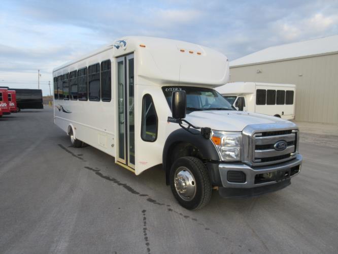 2016 Starcraft Ford F550 32 Passenger Shuttle Bus Passenger side exterior front angle-09783-1