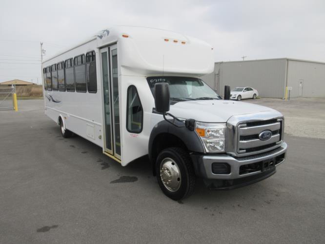 2016 Starcraft Ford F550 33 Passenger Shuttle Bus Passenger side exterior front angle-09784-1