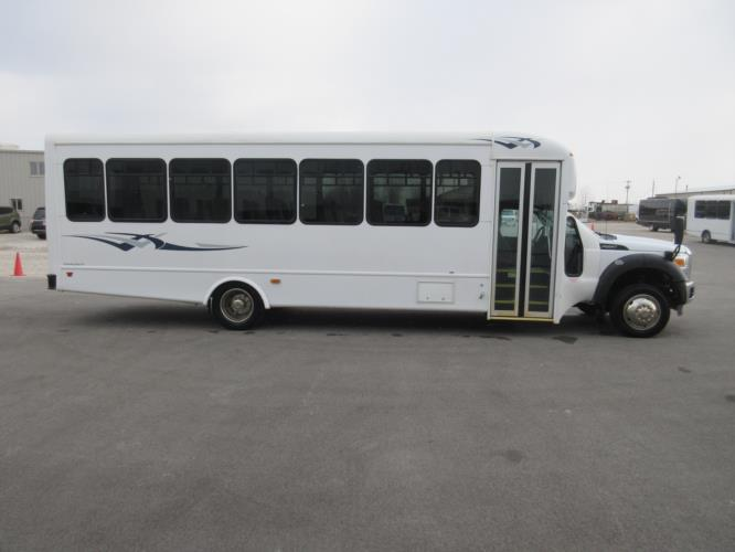 2016 Starcraft Ford F550 33 Passenger Shuttle Bus Driver side exterior front angle-09784-2