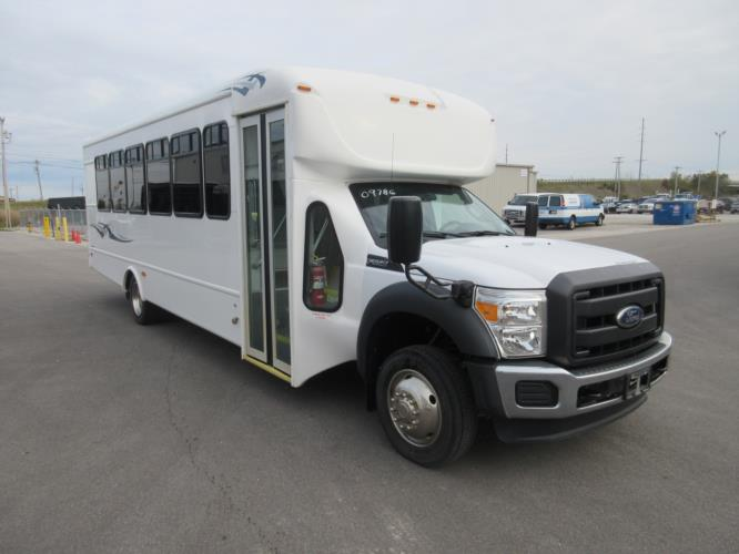 2016 Starcraft Ford F550 29 Passenger Shuttle Bus Passenger side exterior front angle-09786-1