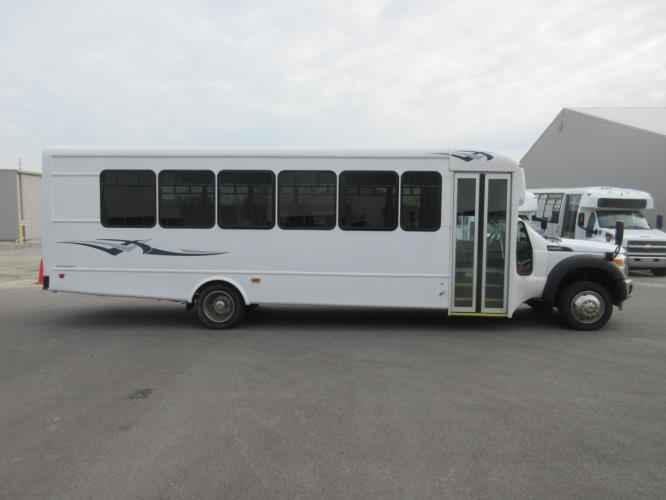 2016 Starcraft Ford F550 29 Passenger Shuttle Bus Driver side exterior front angle-09786-2