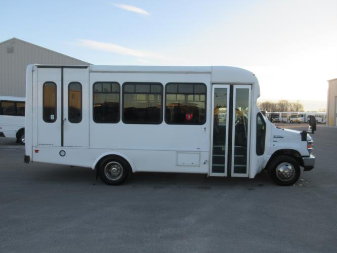 2016 Starcraft Ford E350 0 Passenger and 6 Wheelchair Shuttle Bus Driver side exterior front angle-09894-2