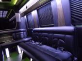 2017 Battisti Customs Ford Transit 14 Passenger Luxury Bus Interior-U10028-10