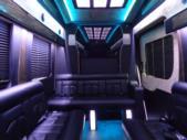 2017 Battisti Customs Ford Transit 14 Passenger Luxury Bus Interior-U10028-12