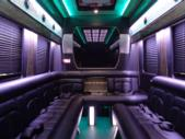2017 Battisti Customs Ford Transit 14 Passenger Luxury Bus Rear exterior-U10028-8