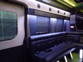 2017 Battisti Customs Ford Transit 14 Passenger Luxury Bus Interior-U10028-9