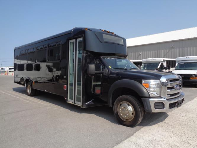 2016 Glaval Ford F-550 29 Passenger Luxury Bus Passenger side exterior front angle-U10036-1