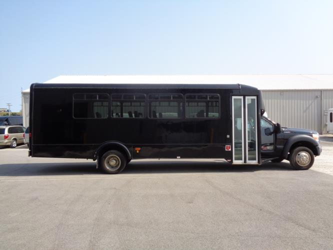 2016 Glaval Ford F-550 29 Passenger Luxury Bus Driver side exterior front angle-U10036-2