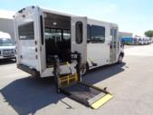 2018 Glaval Ford 11 Passenger and 2 Wheelchair Shuttle Bus Passenger side exterior rear angle-U10080-3
